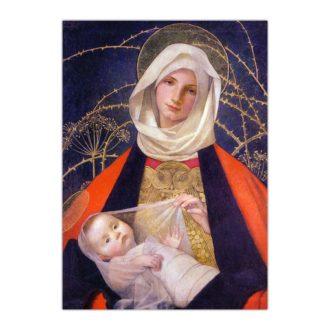 Kartka bożonarodzeniowa – Marianne Stokes, Madonna z Dzieciątkiem, 1908