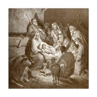 Kartka bożonarodzeniowa – Gustave Doré, Narodzenie, 1891